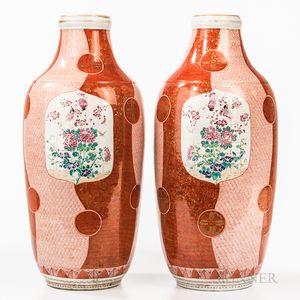 Pair of Large Imari Vases