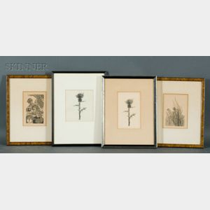 Leonard Baskin (American, 1922-2000)    Lot of Four Prints:   Page Twenty-seven