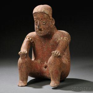 Jalisco Seated Male Figure