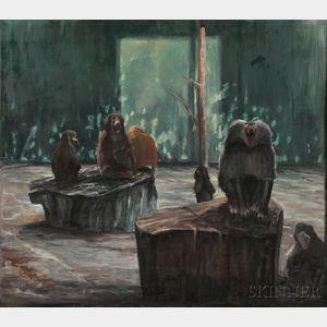 Michael Mazur (American, 1935-2009)    Cage at Stoneham, #15