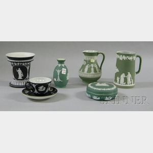 Seven Wedgwood Jasper Dip Items