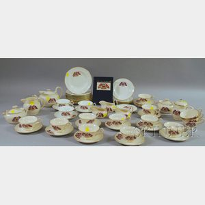 Approximately Fifty-five Pieces of Wedgwood Queen's Ware Liberty China