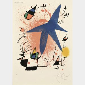 Joan Miró (Spanish, 1893-1983)      Image from Miró Lithographe I