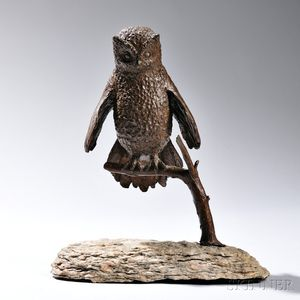 Constance Barnard Pach Sculpture of an Owl