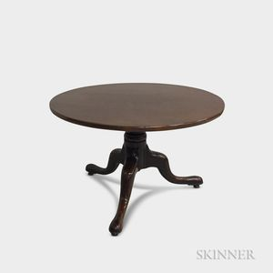 George III Walnut Tilt-top Tea Table