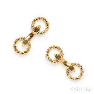 18kt Gold Cuff Links, Cartier