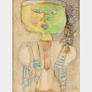 Zero Mostel (American, 1915-1977)    Abstract Figure