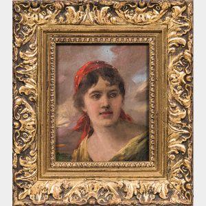 European School, 19th/20th Century      Girl in a Red Kerchief