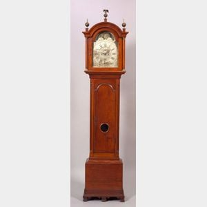 Cherry Carved Tall Case Clock