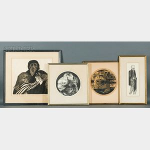 Leonard Baskin (American, 1922-2000)    Lot of Four Prints: