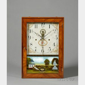 Mahogany and Cherry Outside Escapement Box Clock Attributed to Eli Terry