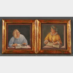 Lot of Two Watercolors After Signorelli, Italian School, 20th Century      Horace