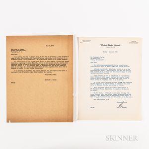 Kennedy, John F. (1917-1963) Typed Letter Signed to Richard S. Kelley, 15 June 1953.