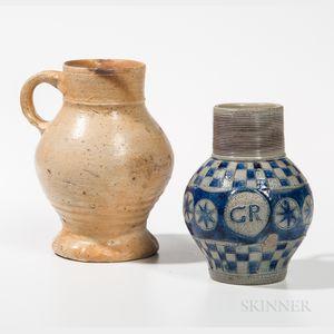 Two German Stoneware Jugs