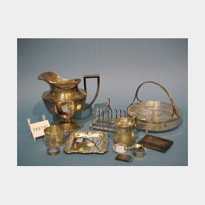Twenty Pieces of Assorted Sterling Silver and Silver Plated Hollowware, Etc.