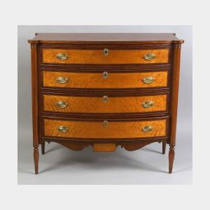 Federal Cherry and Bird's-eye Maple Inlaid Bureau