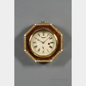 Rosewood Octagonal Wall Clock