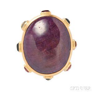22kt Gold Gem-set Ring, Adelline