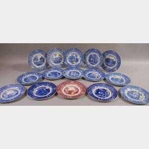 Set of Fifteen Wedgwood University of Michigan Ceramic Plates.