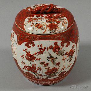 Kutani Covered Jar