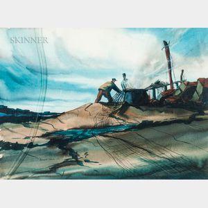 Edward Turner (American, b. 1921)      Two Works: North Easter