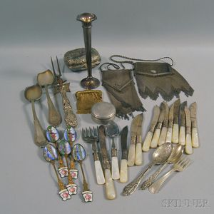 Group of Sterling Silver and Silver-plated Tableware and Accessories
