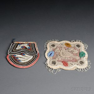 Two Beaded Cloth Woodlands Items