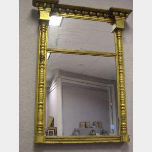 Federal Giltwood Tabernacle Mirror.