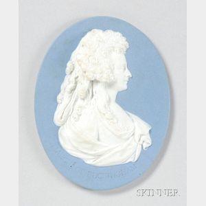 Wedgwood Solid Blue Oval Portrait Medallion