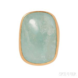 22kt Gold and Aquamarine Ring, Adelline