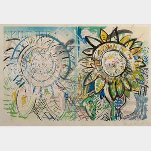 Pat Steir (American, b. 1938)      Sunflower