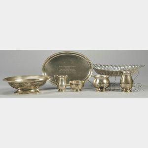 Group of Sterling Tableware Items