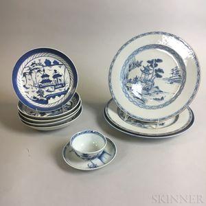 Ten Pieces of Nanking Export Porcelain