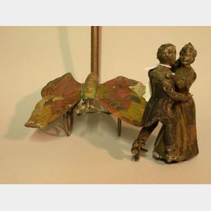 Tin Butterfly Push-Toy