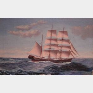 Oil on Canvas  Whaling Barque Kathleen