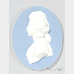 Wedgwood Light Blue Jasper Dip Oval Portrait Medallion