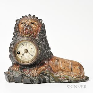Bradley & Hubbard Blinking-eye Lion Clock