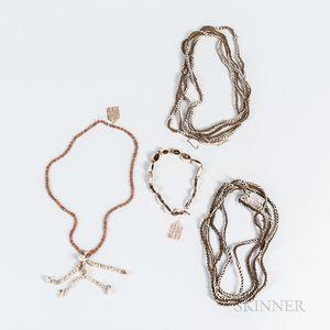 Four Melanesian Shell Necklaces