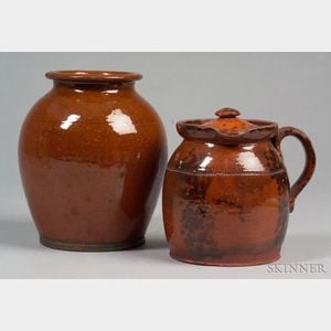Two Redware Items