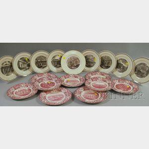 Eighteen Wedgwood Massachusetts Institute of Technology Ceramic Plates