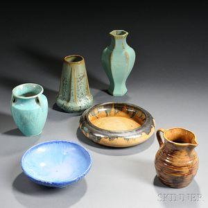Six Fulper Art Pottery Items