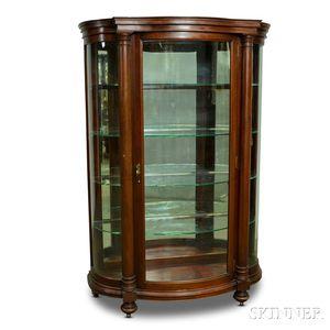 Paine Furniture Empire-style Glazed Mahogany Curio