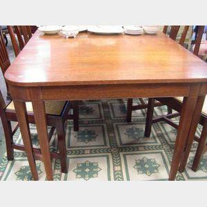 Regency-style Mahogany Inlaid Dining Table.