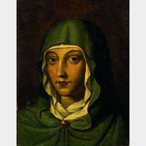 Italian School, 17th Century Style    The Virgin Mary