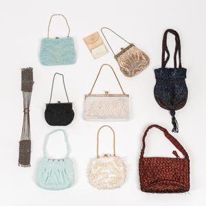 Nine Vintage Beaded Purses