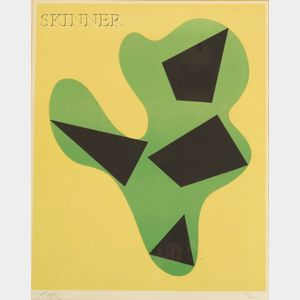 Hans (Jean) Arp (French, 1887-1966)    Composition (Yellow, Green, Black).