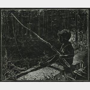 Eliza Draper Gardiner (American, 1871-1955)      Gone Fishing