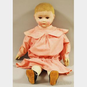 Large Rollinson Molded Cloth Doll