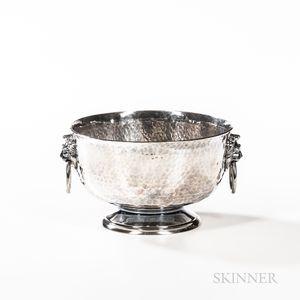 George V Hammered Sterling Silver Bowl