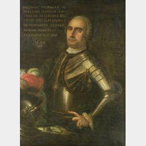 Continental School, 17th Century Style  Portrait of Phillipus Colonnae...